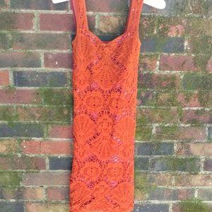 Free People Intimately Pink and Orange Slip Dress